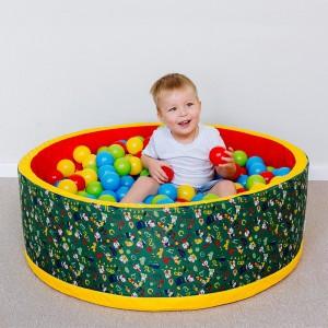 Сухой бассейн «Веселая полянка» с шариками